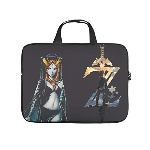 Zelda Laptop bag Pattern Laptop Case Bag vintage Waterproof Laptop Briefcase with Portable Handle for Women Men white 17 zoll