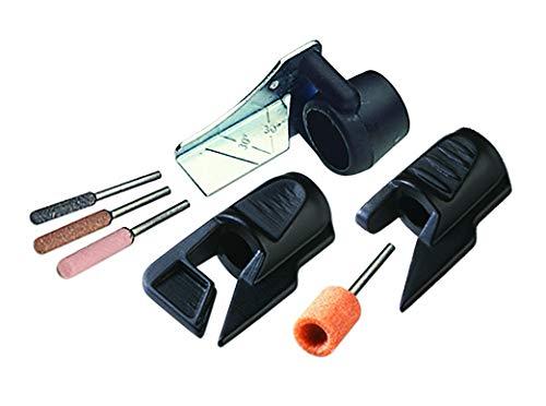 Dremel 1453 kit de afilado para sierra de cadena, juego de accesorios para herramienta rotativa con complemento para guía angular para afilar y puntas de amolar