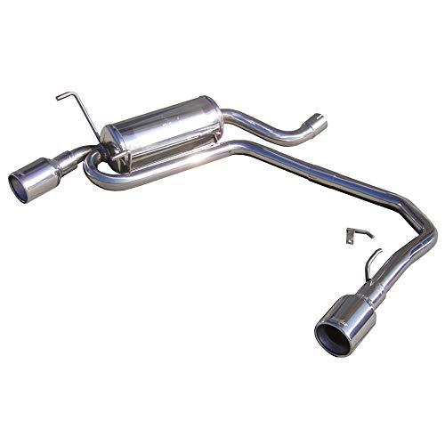InoXcar TWPE25102 gauche/droite 100 Percent Sport d'échappement double en acier inoxydable, diamètre 102 mm