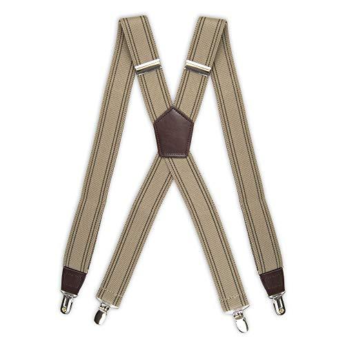 "Dockers Men's Docker's 1 1/4"" Suspenders,Khaki,One Size"