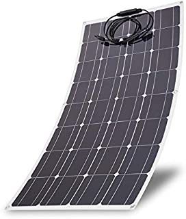100 Watts Monocrystalline Solar Panel Lightweight Flexible Charger for Boat Car Power Supply (100W)