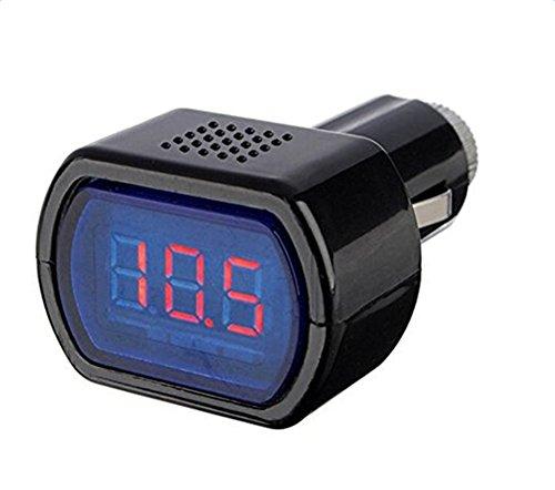 DaoRier LED Spannungsanzeige Voltmeter Zigarettenanzünder KFZ Batterie Tester 12-24V