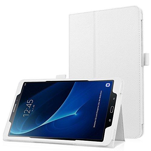 HBorna Galaxy Tab A 10.1 A6 Hülle [mit Auto Schlaf/Wach Funktion], Dünn Superleicht Ständer Smart Cover Schutzhülle Tasche für Samsung Galaxy Tab A 10,1 Zoll T580 / T585 (2016 Version), Weiß