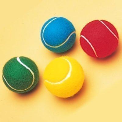 Neu Schläger Sport Außen Spielen Übung Training Farbige Tennisball - Blau, Einheitsgröße
