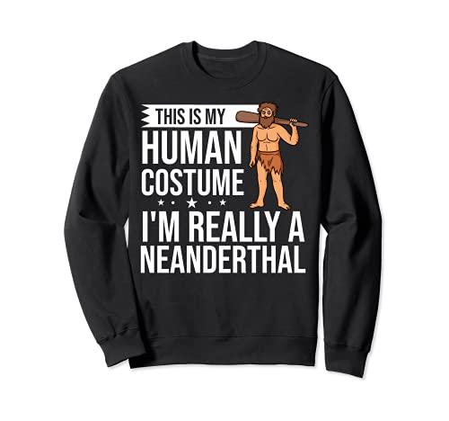 Neanderthal Caveman Regalo Dna Mujer Calavera Sudadera