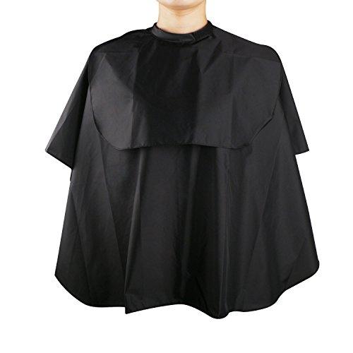 Mini Cape de coiffure noire, Segbeauty cheveux laver Cape imperméable en nylon maquillage barbe déCoupe de cheveux tablier de shampooing