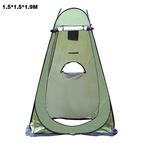 Briskay Pop-Up Shower Tent Instant Privacy Tent Portable Outdoor Shower Tent Camp Toilet Rain Shelter for Camping and Beach, Armée Verte, 1,5 * 1,5 * 1,9