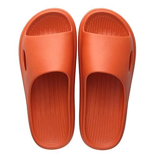 MDCGL NiñAs NiñOs Sandalias Sandalias DE Verano Hombre Zapatillas DOMÉSTICAS Unisex, para Piscinas Interiores Y Exteriores, Playas, GIMNASIOS Naranja EU43-44