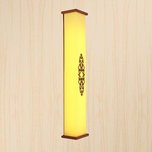 HHCH Appliques murales lampes en bois de couloir étude chambre lampe de chevet allée classiques miroir feux avant applique murale retro (taille : 40x12cm)