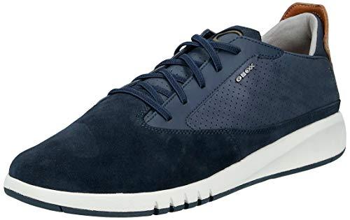 Geox Aerantis Herren-Sneaker, Blau (Marineblaues Glattleder), 42 EU