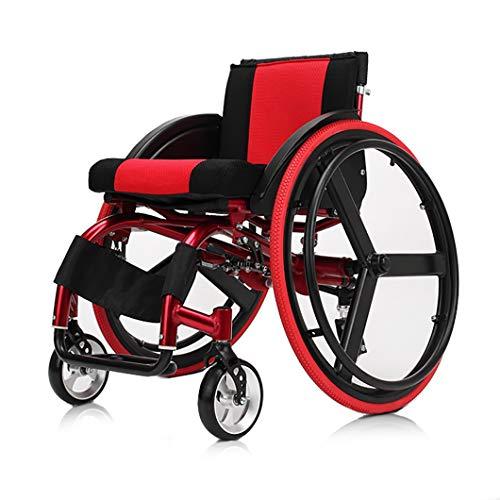 Sport und Freizeit Rollstuhl Klappbare Transportrollstühle, Leichtgewichtiger manueller Rollstuhl aus ergonomischer Ultra-Aluminiumlegierung,für ältere Menschen mit Behinderungen, Schwangere