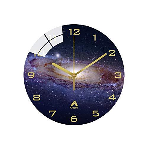XMBT Wanduhr Batteriebetriebene Vintage Home Fashion Wohnzimmer Dekoration-Wohnzimmer Wanduhr Wanduhren Roman Retro Silent Clock Badezimmer Wanduhr,Size:14inch