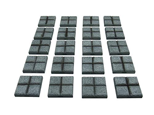 EnderToys Locking Dungeon Tiles - Floor Tiles (x20 pieces), Terrain Scenery Tabletop 28mm Miniatures Role Playing Game, 3D Printed Paintable