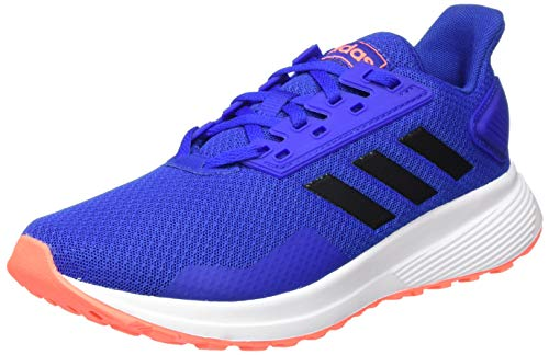 adidas Unisex-Child Duramo 9 Sneaker, Team Royal Blue/Core Black/Signal Coral, 32 EU
