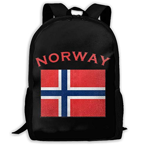 sghshsgh Mochilas Tipo Casual School Backpack Norway Flag 3D Adult Outdoor Leisure Sports Backpack High School Computer Bag