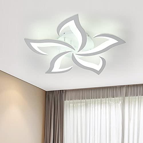 Comely Plafoniera LED, Lampada da Soffitto Moderna 60W 4500lm, Plafoniera LED Soffitto Design a Petalo Elegante per Soggiorno Camera da Letto Sala da Pranzo Bagno (Bianco Freddo 6000K, Diametro 60cm)
