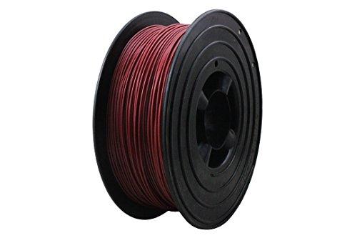 3D Filament 1kg B-Ware Filament Rolle in verschiedenen Farben Rot Gold Silber Grün Blau Braun Lila Violett Beige Transparent Gelb Orange Schwarz Weiß (Orient-Rot (B-Ware))