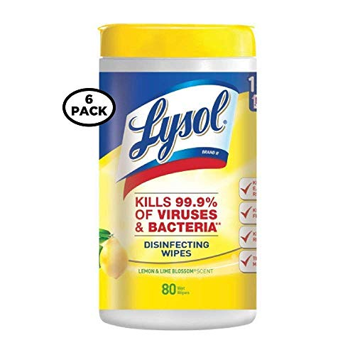 Lysol Disinfecting Wipes, Lemon and Lime Blossom, 80ct