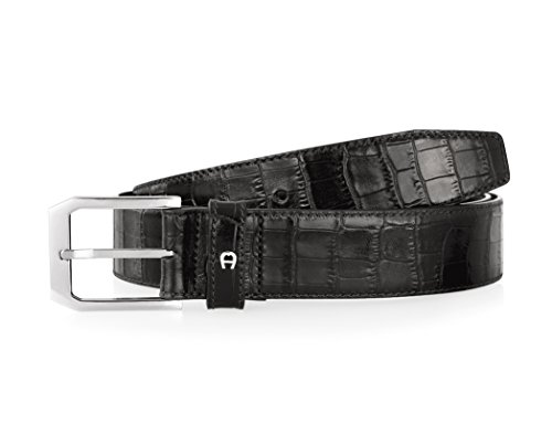 Klassische Glattledergrtel von AIGNER, schwarz, 0007 Black, 90