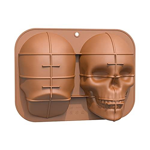 MAIKUI 3D Skullhead Silikon Kuchenform, Halloween Totenkopf Backform Kuchenform Silikon