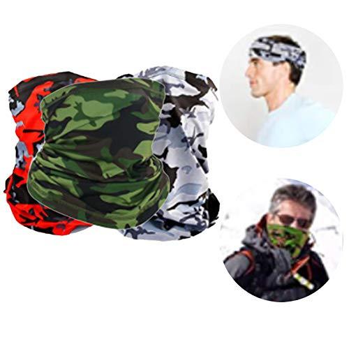3 Piezas Pañuelo Tubular,Pañuelos Cabeza Bandanas Multifuncionales Elásticas,Pañuelo Multifunción para Hombre y Mujer,Bufanda de Tubo Multifuncional,Bufanda para Hombre y Mujer (5)