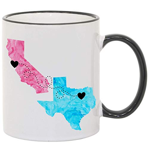 Mom, Personalized Long Distance Coffee Mug, States and Countries, 11oz or 15oz