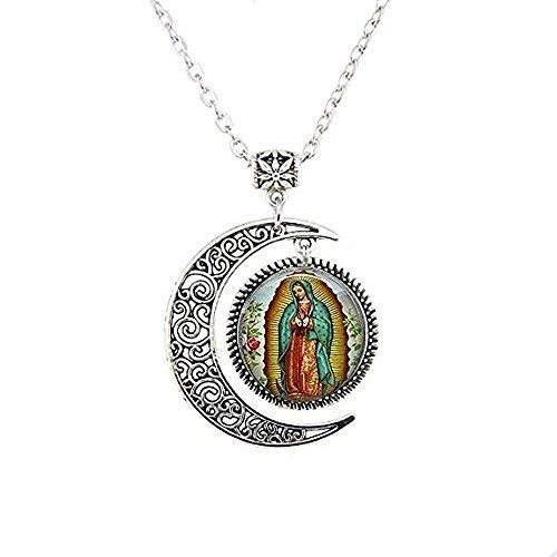 Collar de Nuestra Señora de Guadalupe, collar de la Virgen María, Collar de Arte Católico Religioso