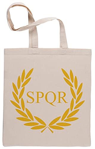 Camp Jupiter SPQR Einkaufstasche Beige Shopping Bag Beige
