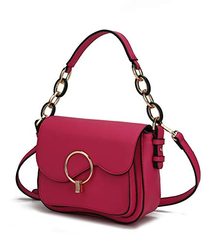 NOTICE: This bag is part of the MKF Collection by Mia K. And has no association with Mia Farrow: Get Ready for Compliments on your FANTA SOLID designer fashionable bag for women that's also highly functional. Small bag big impact with rich gold-tone ...