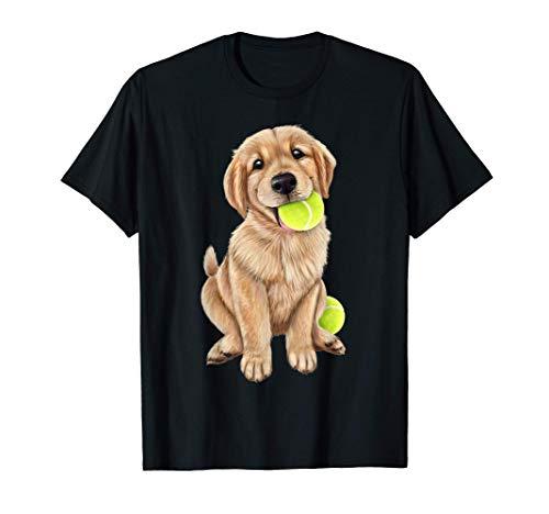 Cachorro de golden retriever con pelota de tenis Camiseta