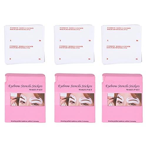 Minkissy Pochoirs à Sourcils 72 Pièces Sourcils Toilettage Pochoir À Sourcils Shaper Réutilisables Sourcil Carte De Pochoir Pochoir Règle Façonner Modèles pour Femmes Filles