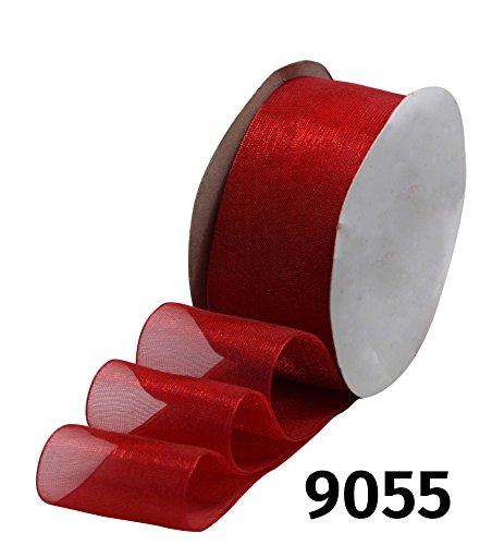 Schleifenband Geschenkband Dekoband schmal Satinband Magma Orange 6 mm 25 m