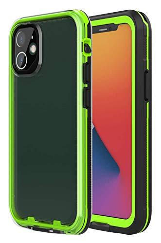 Funda telefónica para iPhone 12, IP68 impermeable a prueba de polvo cubierta a prueba de golpes a prueba de golpes Soporte de carga inalámbrica, caja del teléfono para iPhone 12 / iPhone 12 Pro 5G, PU