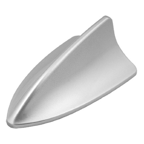 uxcell Car Roof Mounted Silver Tone Plastic Shark Fin Antenna Ornament