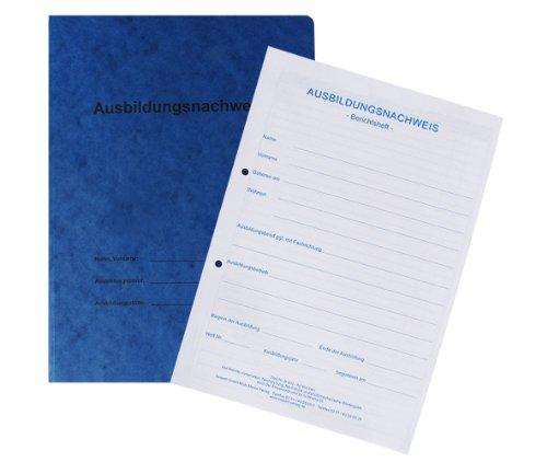 Berichtsheft / Ausbildungsnachweis als Block - für 1 Jahr: tägliche Eintragungen (Mo. - So.), pro Woche 1 Seite für zusätzliche Berichte / Zeichnungen, mit Kartonhefter