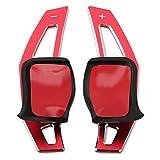 Coche Volante Ajuste para VW Golf 5 6 Mk6 GTI R Jetta MK5 Passat B6 B7 CC Polo Sharan Tiguan Seat Leon DSG DSG Paddle Extension Cubierta de cambio Decorativos para coche (Color Name : Red)
