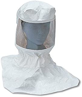 Standard Allegro Industries 9912-C Double Bib Maintenance Free Tyvek Hood CF SAR Assembly with Suspension and Personal Air Cooler with Hansen Fitting