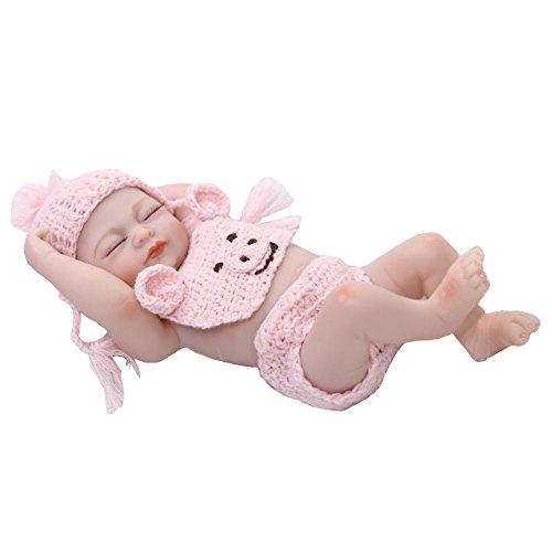 Terabithia Mini 10' Vita Reale Bella Sognatore Neonato Baby Doll Completo Silicone Vinyl Giocattoli Collezionabili Rosa per Ragazza
