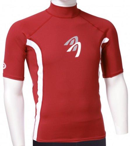ASCAN - Lycra T-Shirt À Manches Courtes Protection UV 60 OZ - rouge, 36