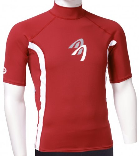 ASCAN - Lycra T-Shirt À Manches Courtes Protection UV 60 OZ - rouge, 36