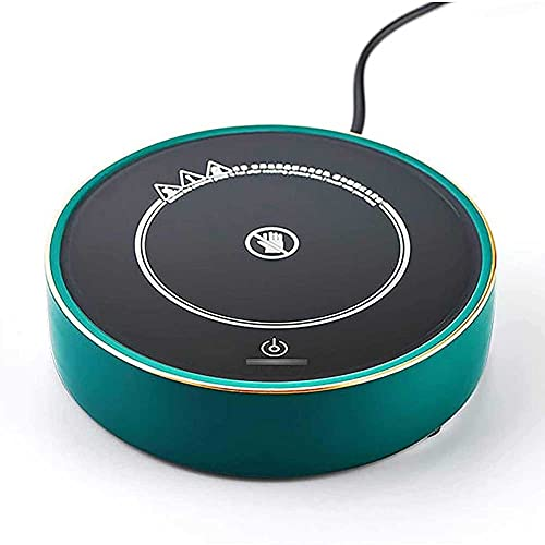 Adesign Taza de café más caliente, calentadores eléctricos de bebidas para el uso del escritorio de la oficina, taza elegante Calentador Termostato Coaster para té caliente café espresso leche vela ce