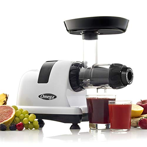 Omega J8006HDS Quiet Dual-Stage Slow Speed Masticating Juicer Makes Fruit and Vegetable 80...