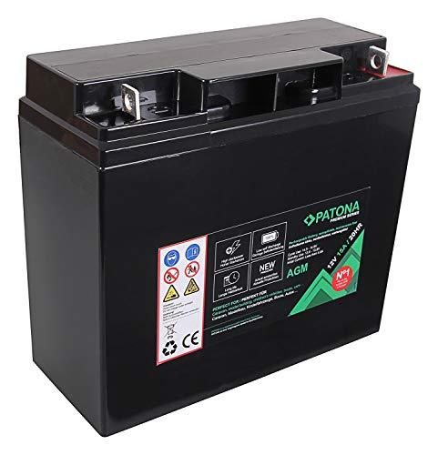 PATONA Premium AGM 12V 15Ah Blei Batterie VRLA Wartungsfrei 1800 Zyklen