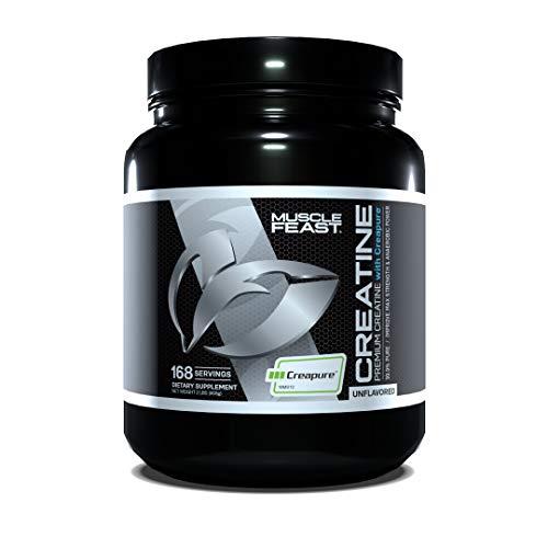 Muscle Feast Creapure Creatine Monohydrate Powder | 5400Mg of Premium 100% Pure German Creatine Per Serving | Vegan, Keto, Gluten Free | Unflavored - 168 Servings