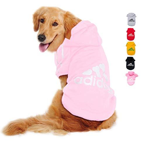 Ducomi Adidog Hoody met capuchon van zacht katoen - jurk hond maat XS - 8XL en grote keuze aan kleuren - verzending vanuit Italië, 4XL, PINK