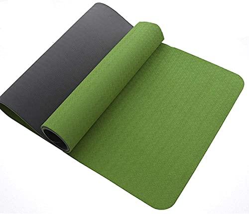 NZKW Esterillas de Yoga Antideslizantes Mate para Yoga Esterilla de Yoga multifunción de 8 mm para Ejercicios Alfombra de ensanchamiento de Alta Densidad con Correa Esterilla de gimnasi