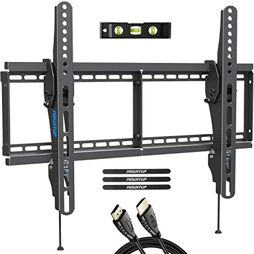 """MOUNTUP TV Wall Mount, Tilting TV Mount Bracket for Most 37-70 Inch Flat Screen/Curved TVs, Low Profile Wall Mount with Max VESA 600x400mm, Holds up to 110 lbs, Fits 16"""", 18"""", 24"""" Studs MU0008"""