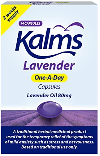 Kalms Lavender - One-a-day - 14 capsules - A Traditional Herbal Medicinal...