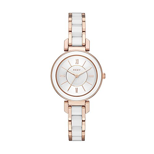 DKNY Women's Ellington Analog-Quartz Watch with Stainless-Steel-Plated Strap, Rose Gold, 10 (Model: NY2589)