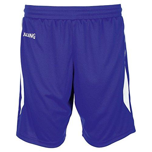 Spalding 4Her III Shorts Pantalón Corto de Entrenamiento de Baloncesto, Mujer, Azul Royal/Blanco, S